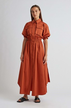 Camilla And Marc Mia Puff Sleeve Shirt Dress