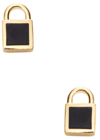 Marc by Marc Jacobs Mini Enamel Padlock Stud Earrings