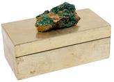 Mapleton Drive Medium Brushed Box with Malachite