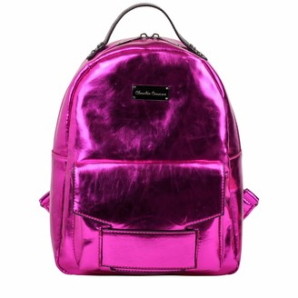Claudia Canova Womens Metallic Zip Fastening Pocketed Bckpk Backpack Pink (Pink)