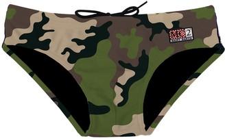 MC2 Saint Barth Camouflage Boy Swim Briefs