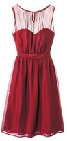 TEVOLIOTM Women's Chiffon Illusion Sleeveless Bridesmaid Dress - Limited Availability Colors