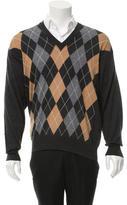 Valentino Patterned V-Neck Sweater