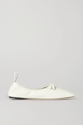 Loewe Bow-detailed Leather Ballet Flats - White