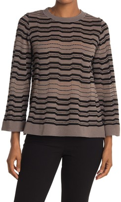 M Missoni Striped Kimono Sleeve Sweater
