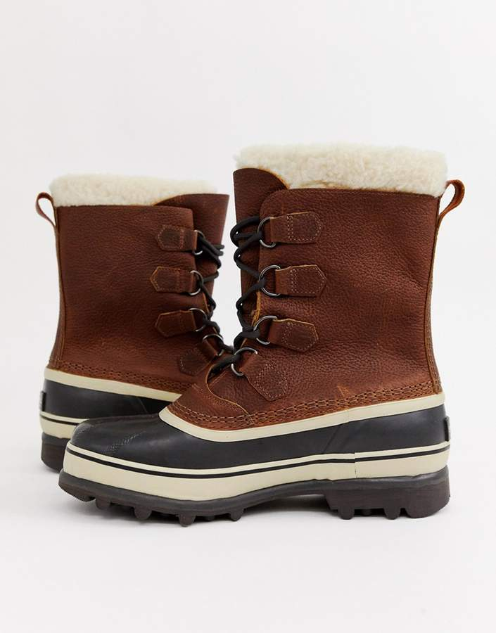 7dd48ee9dd0 Caribou premium snow boots in brown