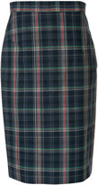 Vivienne Westwood plaid pencil skirt