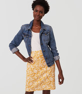 LOFT Floral Textured Pencil Skirt