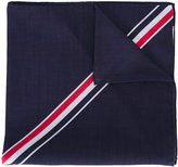 Thom Browne stripe detail scarf - men - Cotton - One Size