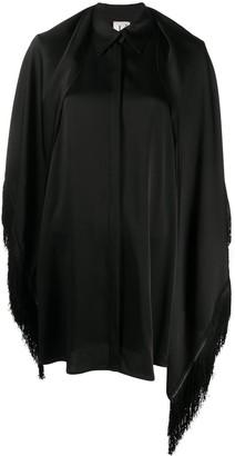 L'Autre Chose fringed shawl shirt