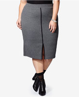 mblm by Tess Holliday Trendy Plus Size Ribbed Pencil Skirt