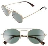 Valentino Women's 51Mm Round Sunglasses - Matte Light Gold/ Grey Crystal
