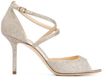 Jimmy Choo Emsy 85mm glitter sandals