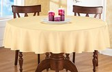 70 Inch Round Solid Colored Tablecloth, 100% Durable Polyester, Yellow