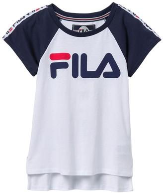 Puma Fila Usa Raglan Taped Tee Shirt (Big Girls)
