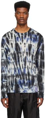 Satisfy Blue and Black Cloud Tie Dye Long Sleeve T-Shirt