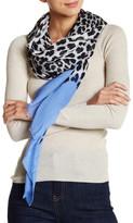 Blue Pacific Oversized Cashmere Blend Leopard Scarf