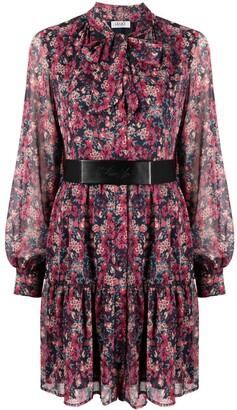 Liu Jo Floral-Print Belted Dress
