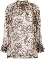 See by Chloe snakeskin-print blouse