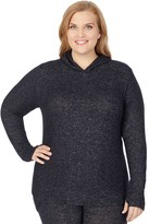 Cuddl Duds Plus Size Soft Knit Long Sleeve Tunic Hoodie