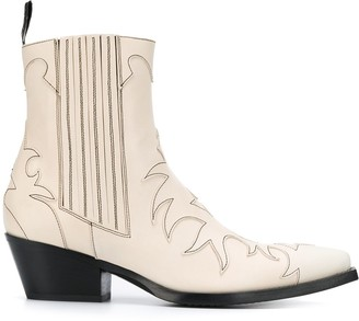 Sartore Pointed Cut Out Detail Boots