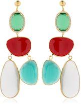 Katerina Psoma Rosette Quartz & Agate Earrings