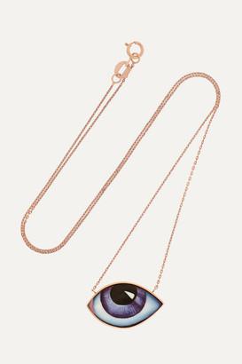 Lito Tu Es Partout 14-karat Rose Gold And Enamel Necklace - one size