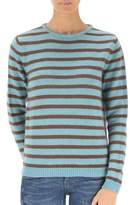 Stella Jean Women's Light Blue Wool Sweater.