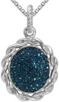 houseofgems Sterling Silver Midnight Blue Twist Pendant Necklace 30""