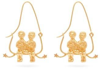 Givenchy Gemini Zodiac Hoop Earrings - Womens - Gold
