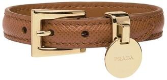 Prada Logo Charm Bracelet