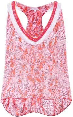 Poupette St Barth Isla printed sleeveless top