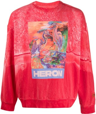 Heron Preston Heron print sweater