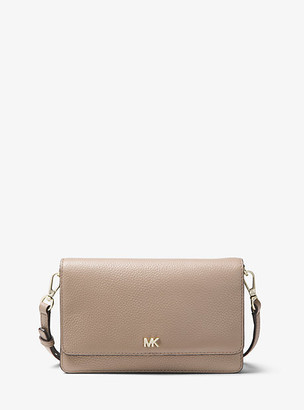 MICHAEL Michael Kors MK Pebbled Leather Convertible Crossbody Bag - Truffle - Michael Kors