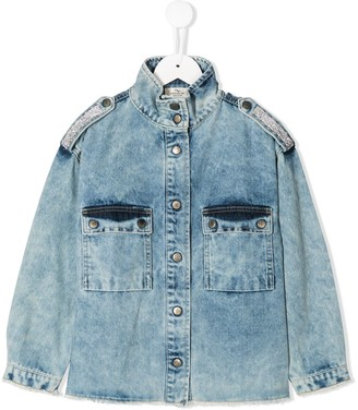 Andorine Embellished Denim Shirt