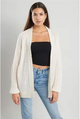 Garage Open Front Chunky Knit Cardi