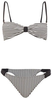 Leslie Amon Thea Striped Bikini - Black Stripe