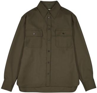 Marni Dark green wool shirt