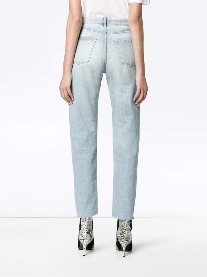 Saint Laurent Blue High Waisted Slim Jeans