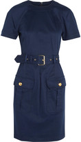 Love Moschino Belted stretch modal and cotton-blend mini dress