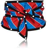 Philosophy di Lorenzo Serafini Women's Striped Poplin Self-Tie Belt