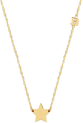 Jane Basch 14K Small Initial Necklace