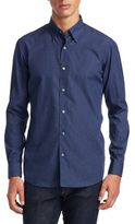 Ermenegildo Zegna Dotted Cotton Casual Button-Down Shirt