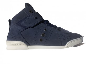 Jimmy Choo Blue Suede Trainers