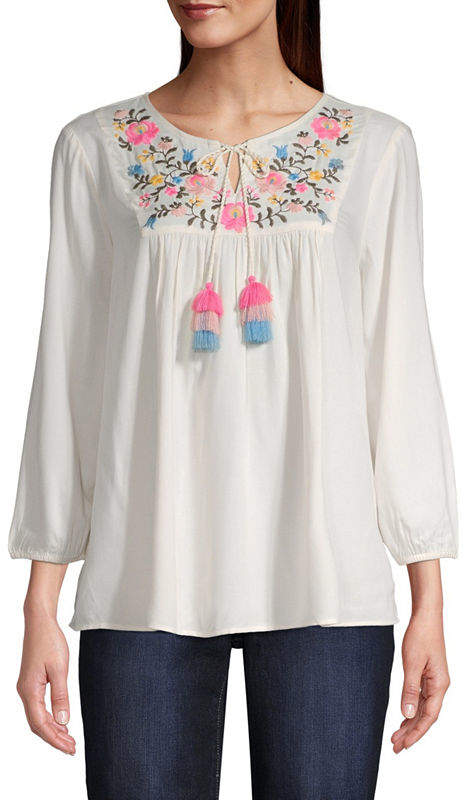 68b22d3863 Ivory Peasant Top - ShopStyle