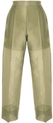 Emporio Armani Metallic Twill Trousers