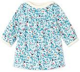 Petit Bateau Baby girls dress in printed cotton fleece