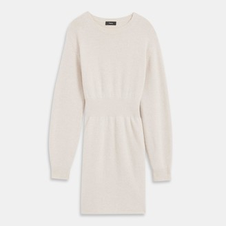 Theory Felted Wool-Cashmere Ribbed Waist Dress