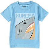 Hurley Little Boys 2T-7 Shark Split Short-Sleeve Tee
