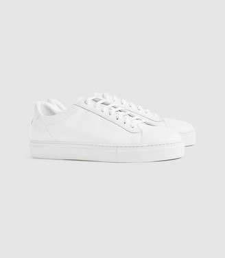 Reiss Finley - Leather Trainers in White